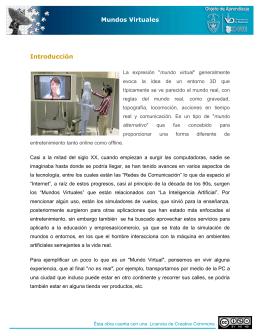 Mundos Virtuales Introducción