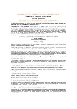PUBLICADO EN LA GACETA OFICIAL DEL DISTRITO FEDERAL EL