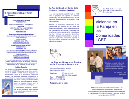 Violencia en la Pareja en las Comunidades LGBT