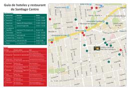 Guía de hoteles y restaurant de Santiago Centro