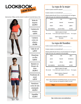 Lookbook: Clothing activity for Spanish class