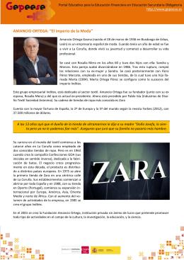"""AMANCIO ORTEGA: """"El imperio de la Moda"""""""