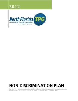 Title VI Plan - North Florida TPO