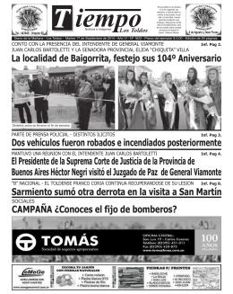 Los Toldos ( 3.7 MB ) - Diario Tiempo Digital