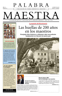 Periódico Palabra Maestra (25a. Edición