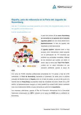 España en la feria de juguetes en Nuremberg 2014