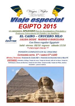 EGIPTO en Octubre 2015