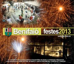 Libre de festes 2013 - Ayuntamiento de Benifaió