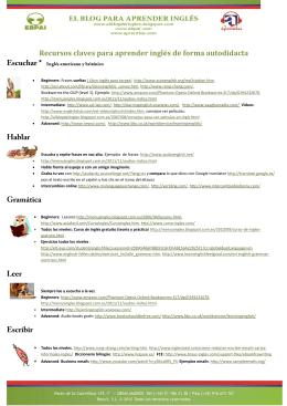 Recursos claves para aprender inglés de forma autodidacta *
