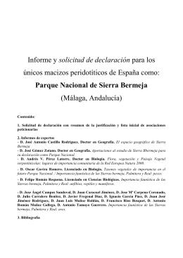 informe solicitud Parque Nacional Sierra Bermeja