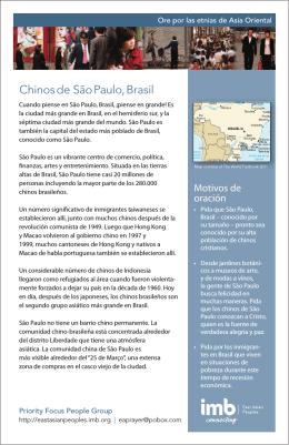 Chinos de São Paulo, Brasil
