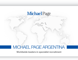 Worldwide leaders in specialist recruitment