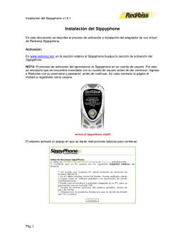 Instalación del Sippyphone