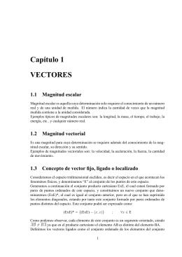Capıtulo 1 VECTORES