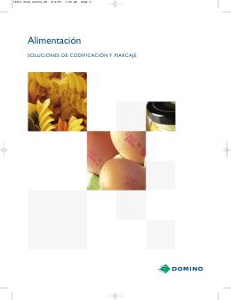 Cátalogo Sector Alimentación