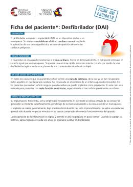 DAI: Ficha del desfibrilador autmoatico implantable