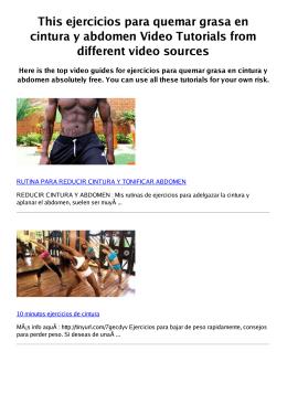 #Z ejercicios para quemar grasa en cintura y abdomen