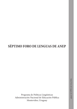 Sexto Foro de Lenguas - Administración Nacional de Educación