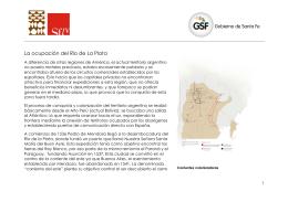 La ocupación del Río de La Plata - Museo Etnográfico y Colonial