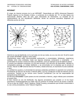 INTERNET - Cátedras
