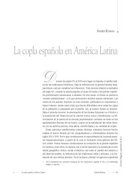 La copla española en América Latina