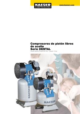 Compresores de pistón libres de aceite Serie DENTAL