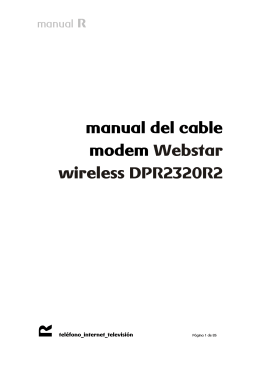 manual del cable modem Webstar wireless DPR2320R2
