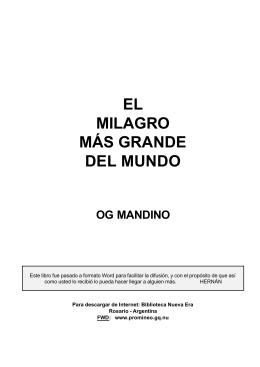 Og Mandino - El milagro mas grande del mundo