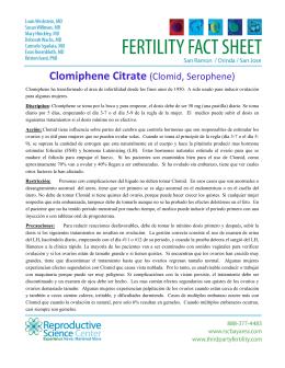 Clomiphene Citrate (Clomid, Serophene)