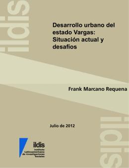 Desarrollo urbano del estado Vargas : situación actual y desafíos