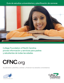 College Foundation of North Carolina provee información y