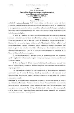 Ley 5, 11 de enero de 2007