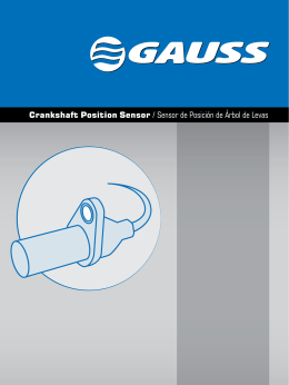 Crankshaft Position Sensor / Sensor de Posición de Árbol