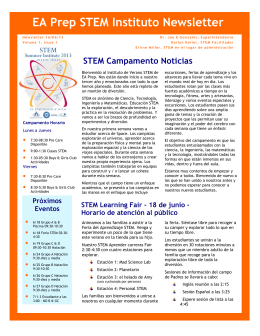 EA Prep STEM Instituto Newsletter