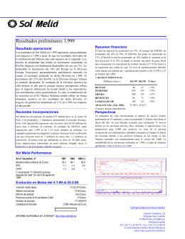Informe Resultados Anuales 1999