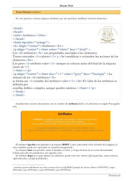 html>  Atributos  bgcolor