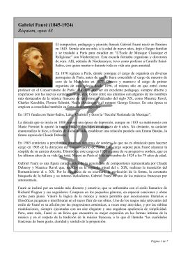 Gabriel Fauré (1845-1924) Réquiem, opus 48