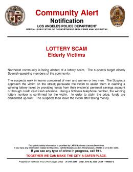 Community Alert - Los Angeles Police Department