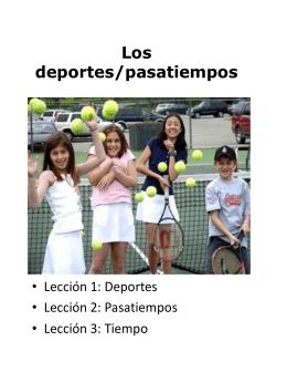 Los deportes/pasatiempos