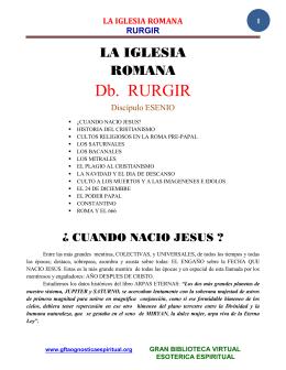 16 07 LA IGLESIA ROMANA Dimbel RURGIR