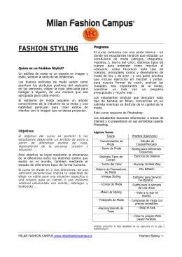 FASHION STYLING - Milan Fashion Campus