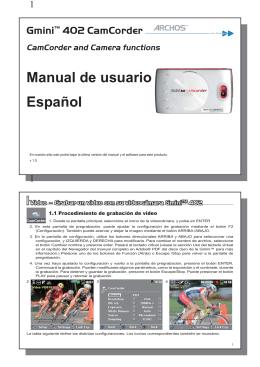 Manual de usuario Español