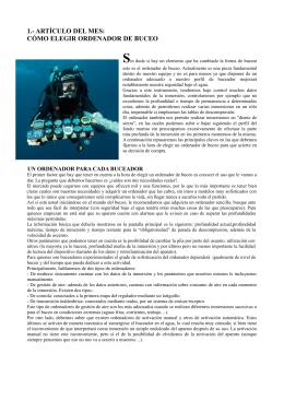 1.- ARTÍCULO DEL MES: CÓMO ELEGIR ORDENADOR DE BUCEO
