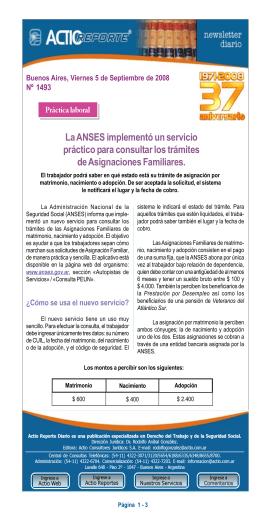 Reporte 1493 - La ANSES implementó un servicio práctico
