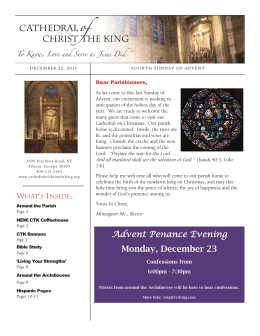 Advent Penance Evening Monday, December 23