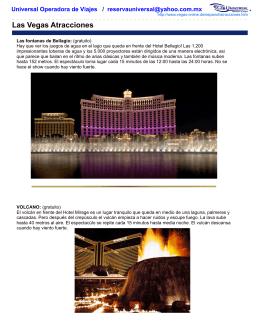 Las Vegas Atracciones - Universal Operadora Inicio