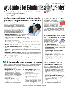 Ayudando a los Estudiantes a Aprender (Middle School Edition