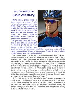 Aprendiendo de Lance Armstrong