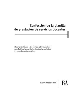 Confección de la planilla de prestación de servicios docentes