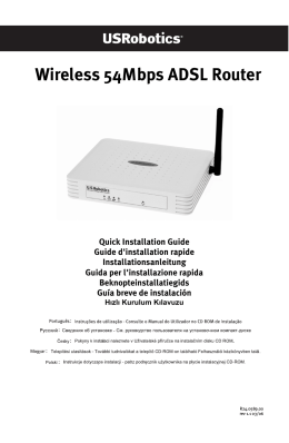 Wireless 54Mbps ADSL Router